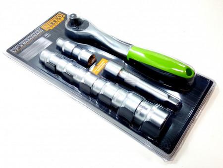 Trusa tubulare , 11 piese , 8 x tubulare , 1 x prelungitor 12.5 cm , 1 x clichet , husa , Niteo Tools