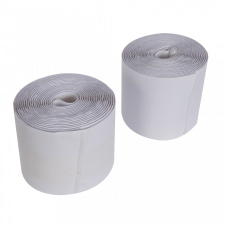 Banda velcro, arici pe ambele parti, adeziv heavy duty spate, 10 x 500 cm , alb, Fixman