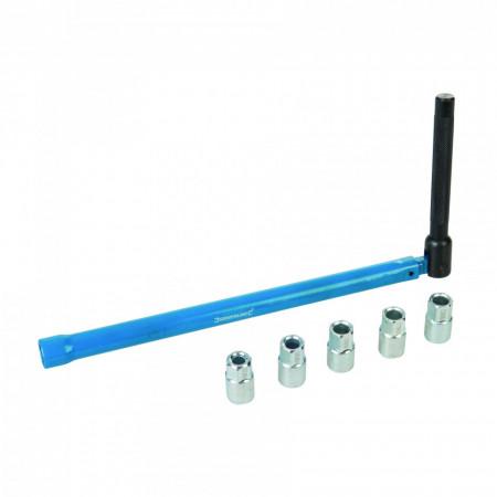 Cheie cu prelungitor pentru schimbat bateria de la chiuveta , spatii inguste , Silverline Tap Installation Tool