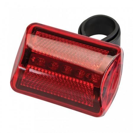 Lampa bicicleta spate, 5 LED, 7 setari lumina, Silverline