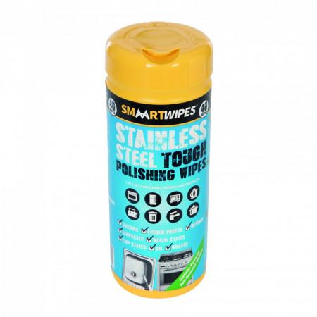 Șervețele de lustruire a oțelului inoxidabil , 40 buc , Smart Stainless Steel Tough Polishing Wipes 40pk