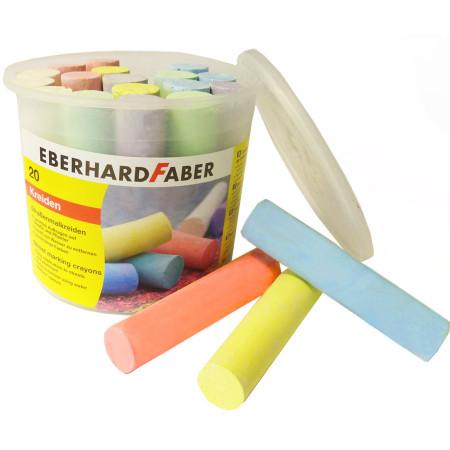 Set 20 creta colorata pentru desenat pe asfalt, Eberhard Faber