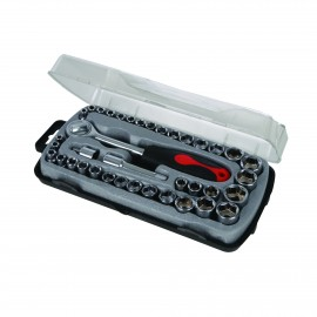 Trusa chei tubulare cu clichet 39 piese Silverline Compact Socket Set 39pce