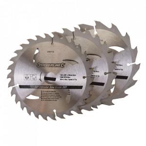 Set 3 discuri, lemn , 150 x 20 , prindere 16, 12.75 mm, 16 , 24, 30 dinti, Silverline