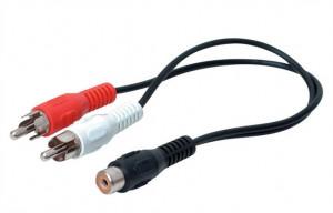 Adaptor audio, RCA mama la 2 x RCA tata, Deltac C