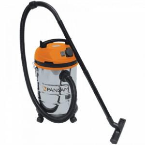 Aspirator semi-profesional Pansam 1400W 30Ltr , inox , umed / uscat ,  functie pornire automata