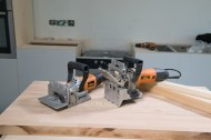 Biscuitor profesional, freza biscuiti lemn, 760W, 0, 10, 20, Triton