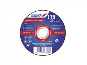 Disc polizor unghiular debitare otel, 115 x 1 x 22.2 mm, Dedra