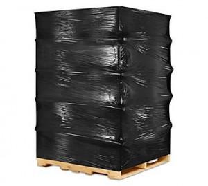 Folie stretch pentru ambalat , 2,1 kg , 130m , neagra, 23 microni
