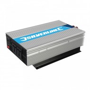 Invertor casa, auto, panouri solare, 12v - 220v, 2000W, 2 x 1000W, usb 5V, Silverline