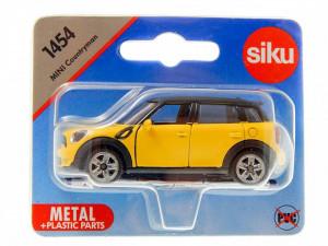 Macheta metalica Mini Countryman, galben, 7.3 cm, roti cauciuc, Siku