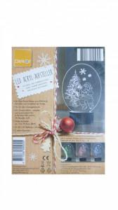 Ornament Craciun, acryl led, 6 culori, 10 led-uri, 14 x 19.50 cm, brad - Mos-Craciun, Dekor