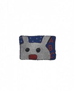 Petic textil, patch brodat , 58 x 40mm, iepure abc, Wenco