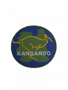 Petic textil, patch brodat , 60mm, glob kangaroo, Wenco