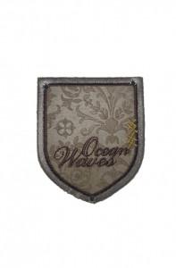 Petic textil, patch brodat , 75 x 65mm,ocean waves, Wenco