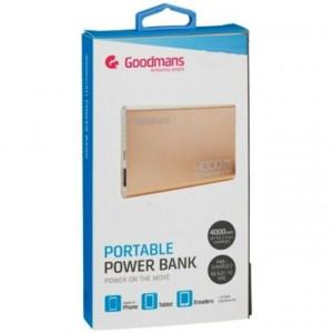 Power bank 4000 mAh, aluminiu, gold, Goodmans