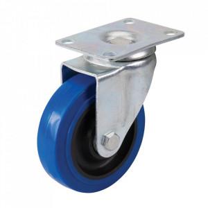 Roata pivotanta aplicabila, cauciuc elastic, 100mm, sustinere 140Kg, Silverline