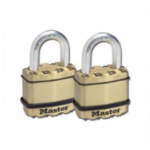 Set 2 lacate profesionale cu chei unice, 4 chei, Master Lock Excell