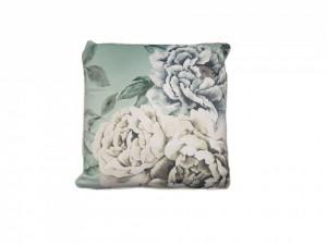 Set 2 perne decorative premium, 43 x 43 cm, flori albe, husa detasabila, George Home