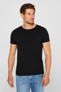 Set 2 tricouri barbati, XXL, alb, negru, 95% bumbac, 5% elastan, muscle fit, EDC by Esprit