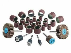 Set 30 accesorii polizat, slefuit, mini freza, oberfreza, grit 80, 120, Parkside