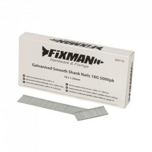 Set 5000 cuie galvanizate, 18G, 16 x 1.25mm, Fixman