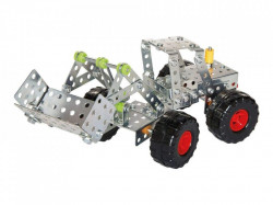 Set constructie metalic, 2 in 1, 200 piese, buldozer, Playtive