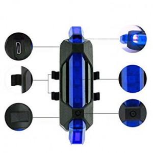 Stop bicicleta, lumina albastra , 7.8 cm, acumulator inclus , 5 LED, usb micro, 4 moduri, VKTools