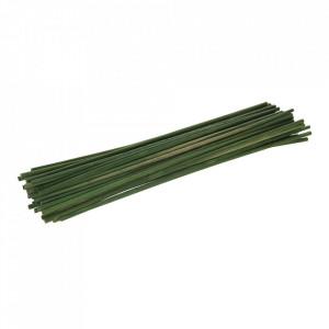 Suport plante bambus vopsit verde, 300mm, 50 piese, Silverline