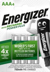 Acumulatori AAA, 700 mAh - Energizer ,4 buc / set
