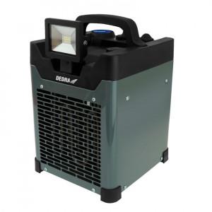 Aeroterma santier cu proiector LED, 10W, 3300W, 220V, boxa bluetooth incorporata, power bank, Dedra