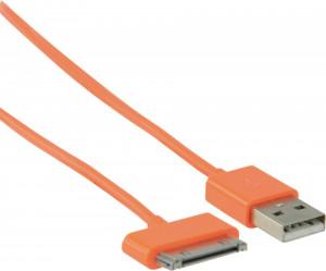 Cablu date 30 pini, alimentare, Ipad, Ipod, Iphone, 1m, portocaliu, ValueLine