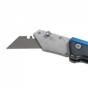 Cutter rabatabil, 10 lame rezerva, 110mm, metalic, Silverline