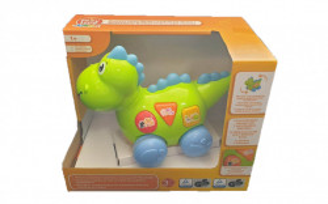 Dinozaur interactiv, 21 sunete si tonalitati, sunete animale, cantece, deplasare miscare cap coada, lumini, Playtive Junior