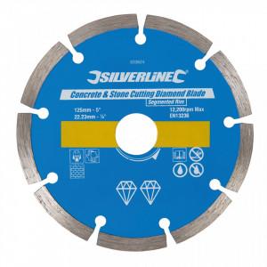 Disc taiat beton, caramida, 125 x 22.23mm, Silverline
