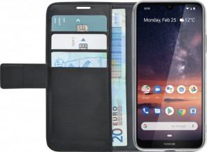 Husa de protectie tip carte, inchidere magnetica, buzunare carduri/bani, Nokia 3.1, Azuri