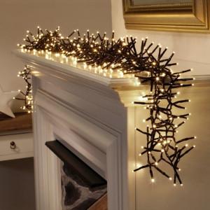 Instalatie becuri led decorativa Craciun, 400 LED-uri, telecomanda IR , 6.7m, lumina calda, Dekor