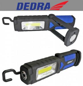 Lanterna led , 2 moduri 3W si 1W , suport masa si carlig , Dedra