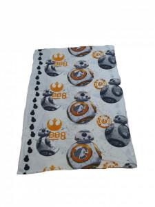 Lenjerie de pat, 1 plic pilota 200 x 135 cm, 1 fata perna 80 x 80 cm, single, microfibra fluffy, Star Wars, Lucasfilm Ltd