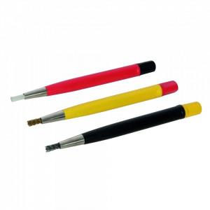 Pensule tip perii pentru curatat in locuri greu accesibile , Silverline Scratch Brushes 3pk