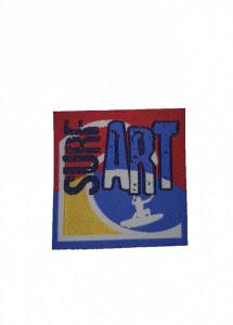 Petic textil, patch brodat , 60 x 60mm, Surf Art, Wenco