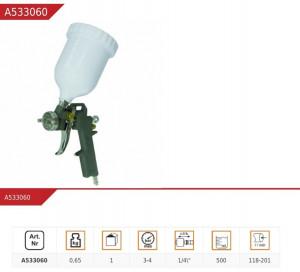 Pistol de vopsit PANSAM , rezervor plastic , 500 ml