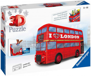 Puzzle Ravensburger 3D - London Bus, 216 piese