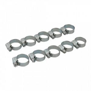 Set 10 coliere metalice profesionale, 16-22mm, Fixman