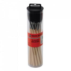 Set 25 pensule aplicare flux electronice, maner lemn, Dickie Dyer