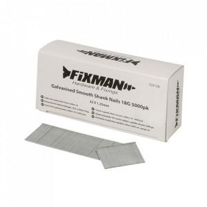 Set 5000 cuie galvanizate pistol pneumatic, 18GA, 32mm x 1.25, Fixman