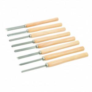 Set dalti pentru lemn 8 piese , 360mm , Silverline Wood Turning Chisel Set 8pce