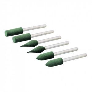 Set de 6 piese accesorii pentru biax pentru slefuit , Silverline Rotary Tool Rubber Polishing Point Set 6pce