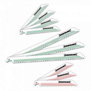 Set lame pentru fierastrau vertical tip sabie 10 piese, lemn si metal Silverline