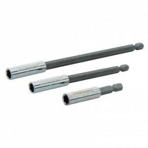 Set prelungitor de șurubelniță hexagonal magnetic , 60 - 100 -150mm , Silverline Magnetic Screwdriver Bit Holder 3pce